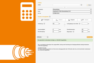 chainflex® lifetime calculator